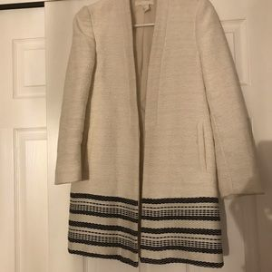 Cream Waist Coat with Embroidered Hem